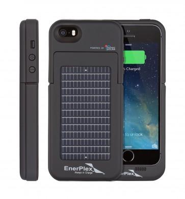 EnerPlex Surfr für iPhone 5/5s Solar & Batteriecover schwarz