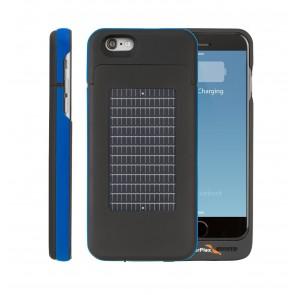 EnerPlex Surfr für iPhone 6 Solar & Batteriecover blau