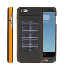 EnerPlex Surfr für iPhone 6 Solar & Batteriecover orange