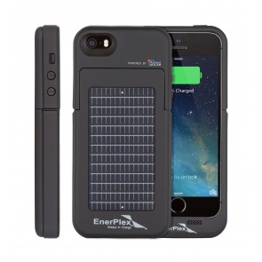 EnerPlex Surfr for iPhone 5/5s Solar & Battery Phone Case black