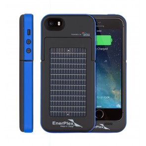 EnerPlex Surfr for iPhone 5/5s Solar & Battery Phone Case blue