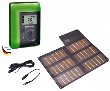 Sunload Solar Charger Set 20Wp (black) with M5