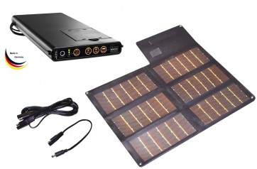 Sunload Solar Charger Set 20Wp (black) with Sunload MultECon Charger M60